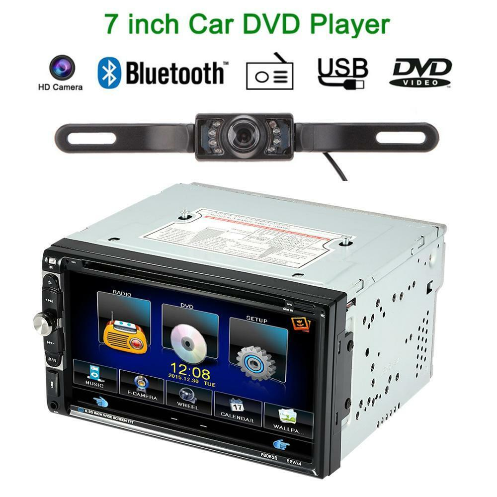 2 din 7 hd stereo car dvd cd mp3 player bluetooth radio. Black Bedroom Furniture Sets. Home Design Ideas