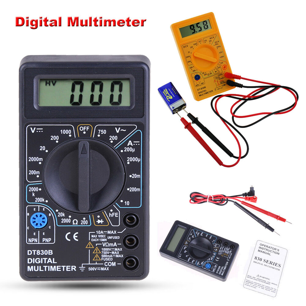 Ac Dc Digital Voltmeter Kit : Digital multimeter ac dc voltmeter ammeter ohmmeter