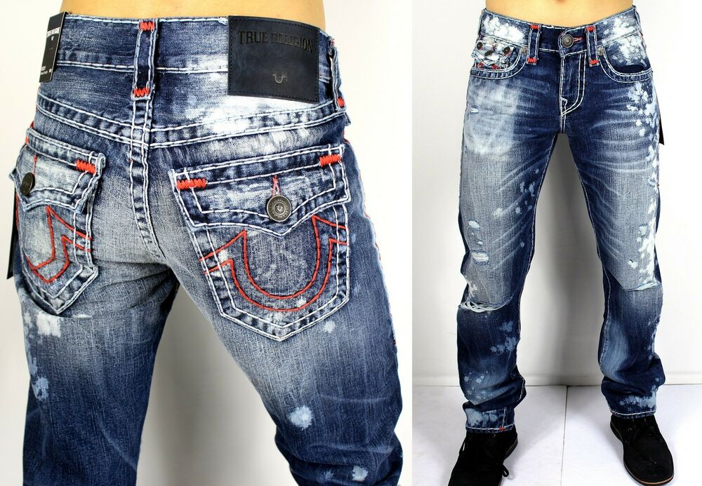 true religion men 39 s 399 ricky straight super t brand jeans m859nwy1 ebay. Black Bedroom Furniture Sets. Home Design Ideas