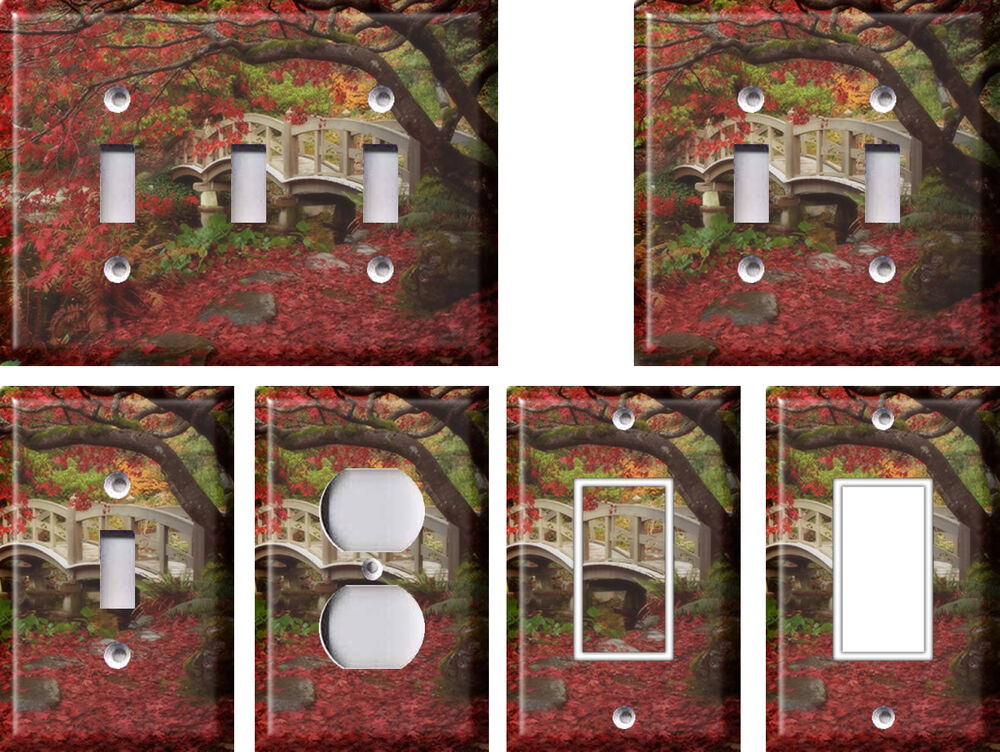 Japanese garden 2 light switch covers home decor outlet for Home decorations outlet