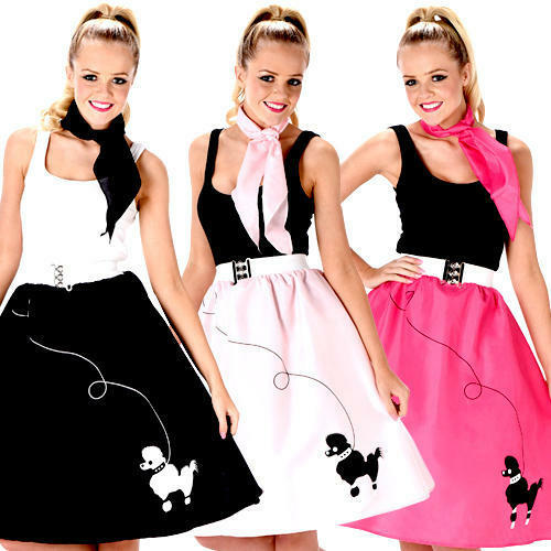 Rock and Roll Poodle Skirt Ladies Fancy Dress 50s 60s ...