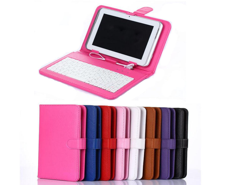 Universal 7 8 9 10 Inch Tablet Pc Leather Keyboard Case