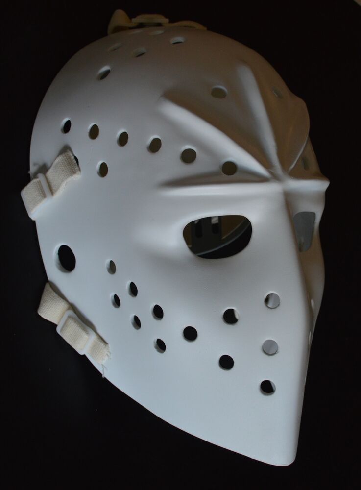 FIBERGLASS GOALIE MASK Jacques Plante style replica with ...