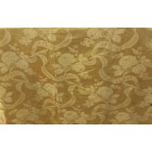 French Antique Woven Silk Panel Roses & Lace Damask~Home Dec~1 yd6
