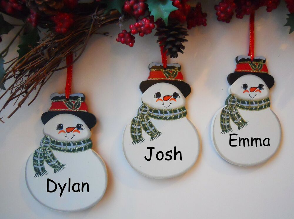 Personalised Snowman Christmas Tree Decorations Christmas