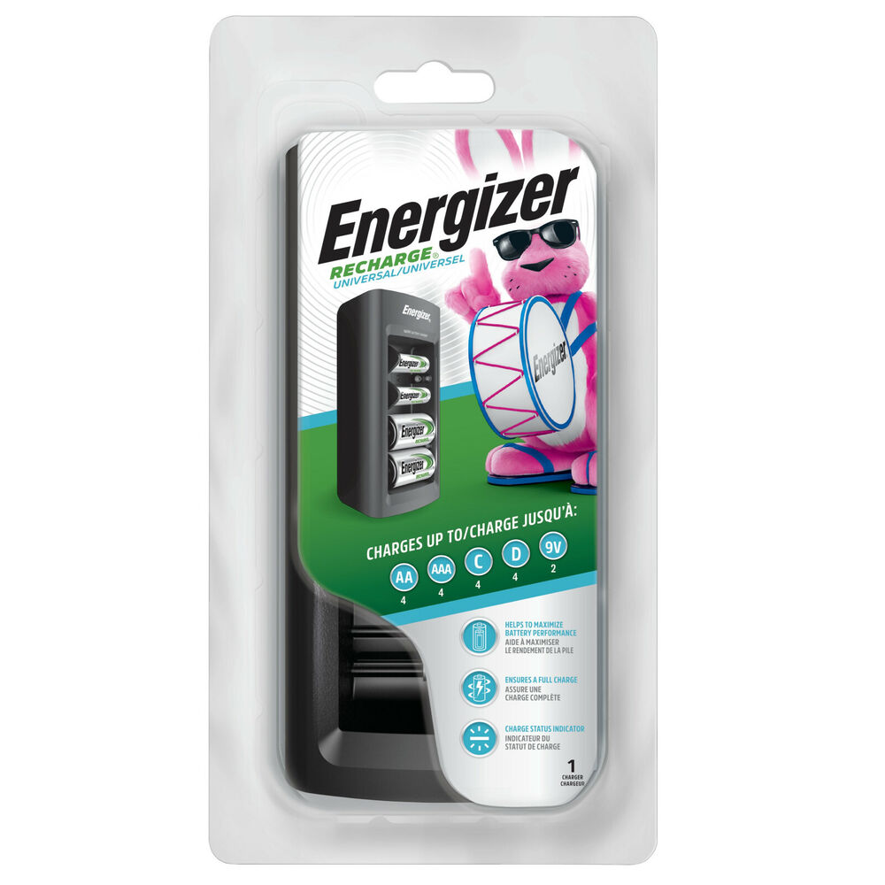 energizer universal nimh battery charger for aa aaa c d 9v. Black Bedroom Furniture Sets. Home Design Ideas