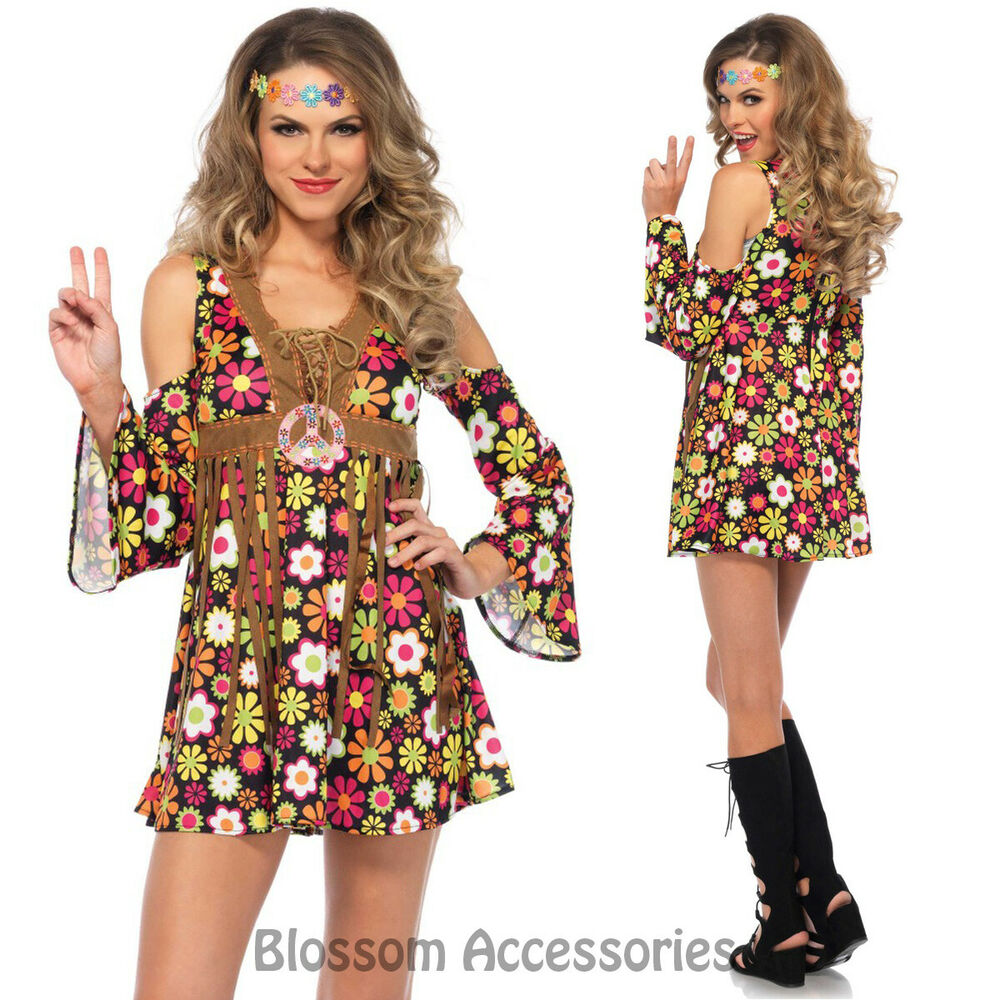 Dress Up: CA79 Starflower Hippie 1960s Disco Hippy 70s Fancy Dress