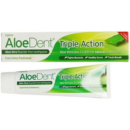 Aloe Dent Original Aloe Vera Mint Toothpaste with Co-Q-10 - Pack of 2