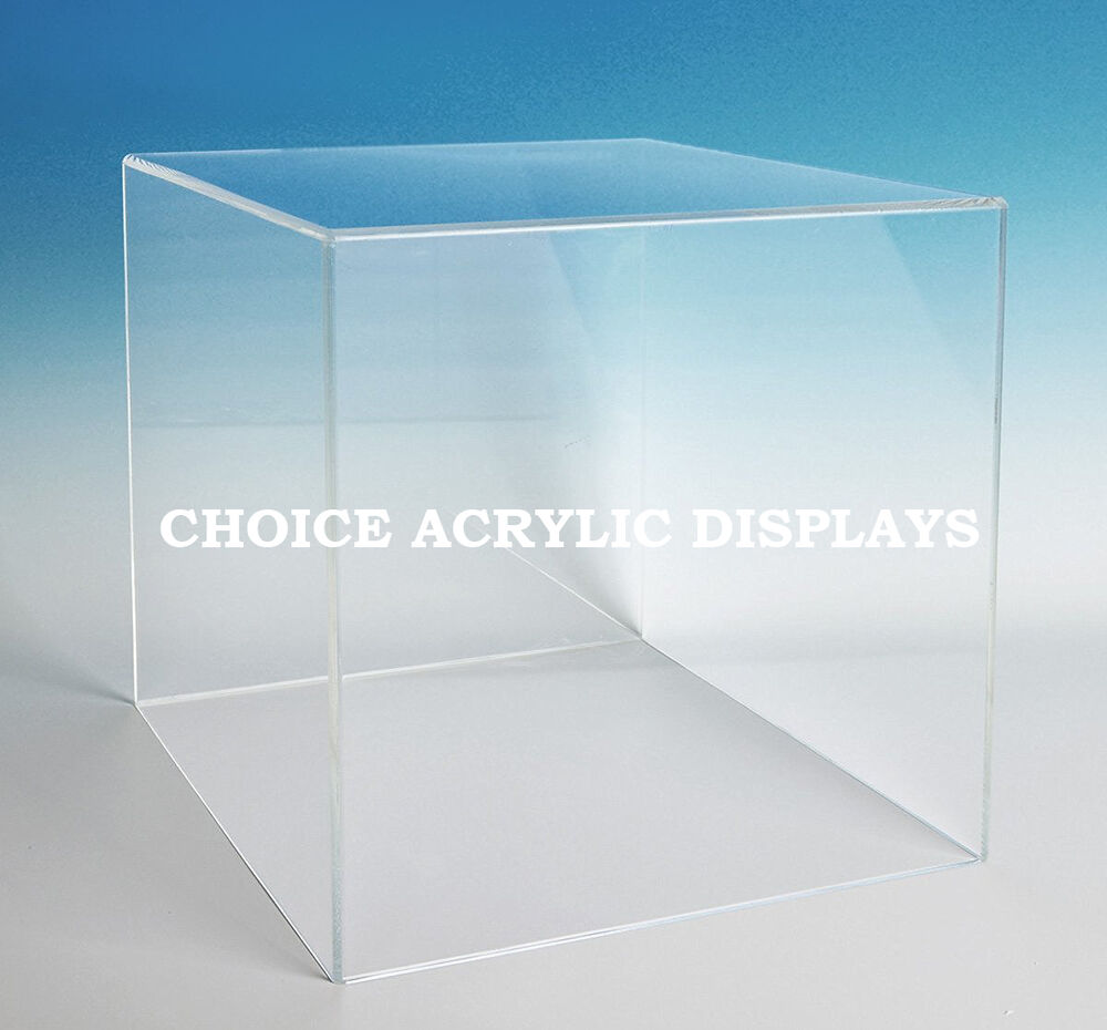 large box case acrylic cube display large collectible cover box stand ebay. Black Bedroom Furniture Sets. Home Design Ideas