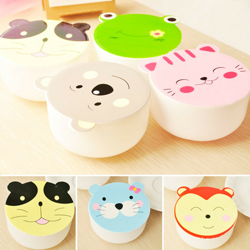 Durable Children Kids Microwave Cute Cartoon Lunch Box