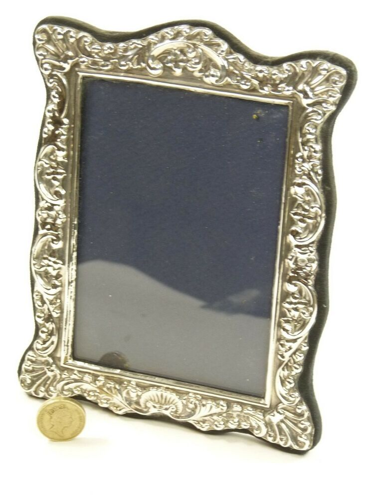 vintage sterling silver photo picture frame 5 1 2 x. Black Bedroom Furniture Sets. Home Design Ideas