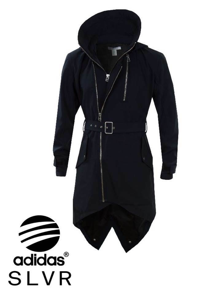 Adidas Mens SLVR Fishtail Parka Coat Trench Parka Dark Parker Hood ...