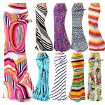 USA MADE MULTI COLORFUL PRINT BANDED WAIST FULL LONG MAXI SKIRT S M L