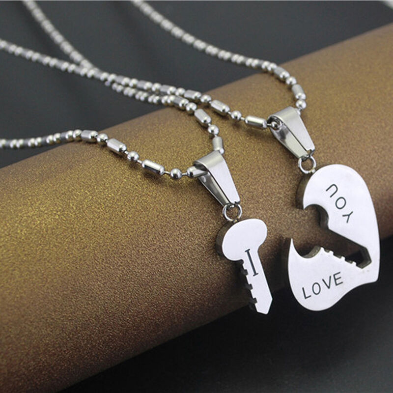 cute best i love you couple lover matching key hearts