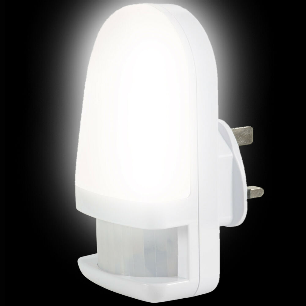 Led Night Light With Pir Sensor Motion Sensor Plug In Night Light Ebay