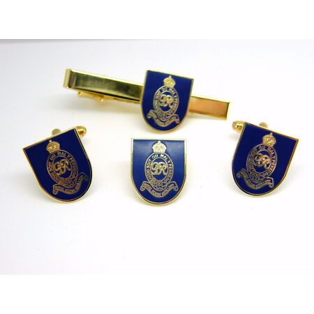 img-THE ROYAL HORSE ARTILLERY ARMY CUFFLINKS TIECLIP LAPEL BADGE SET MILITARY GIFT