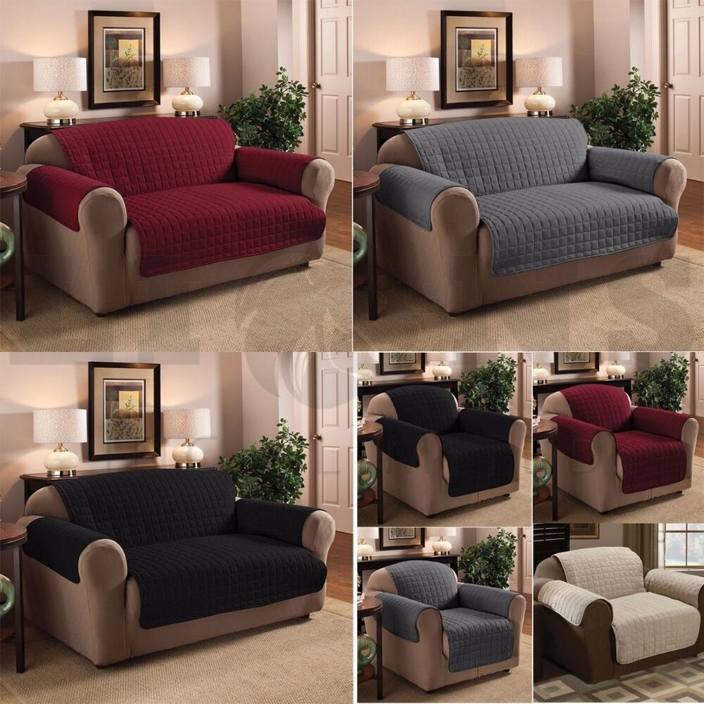 Quilted Furniture Sofa Protector Throw Water Repellent