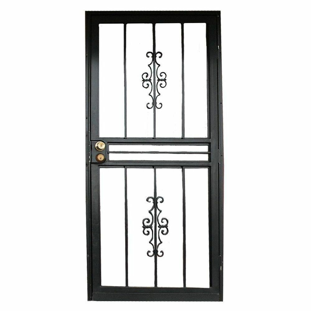 Heavy Duty Entry Storm Security Door Left Right Reversible