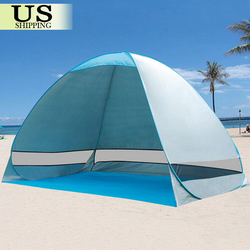 5-8 Person Outdoor Canopy Portable Camping Sun Shade Shelter Triangle Beach Hot