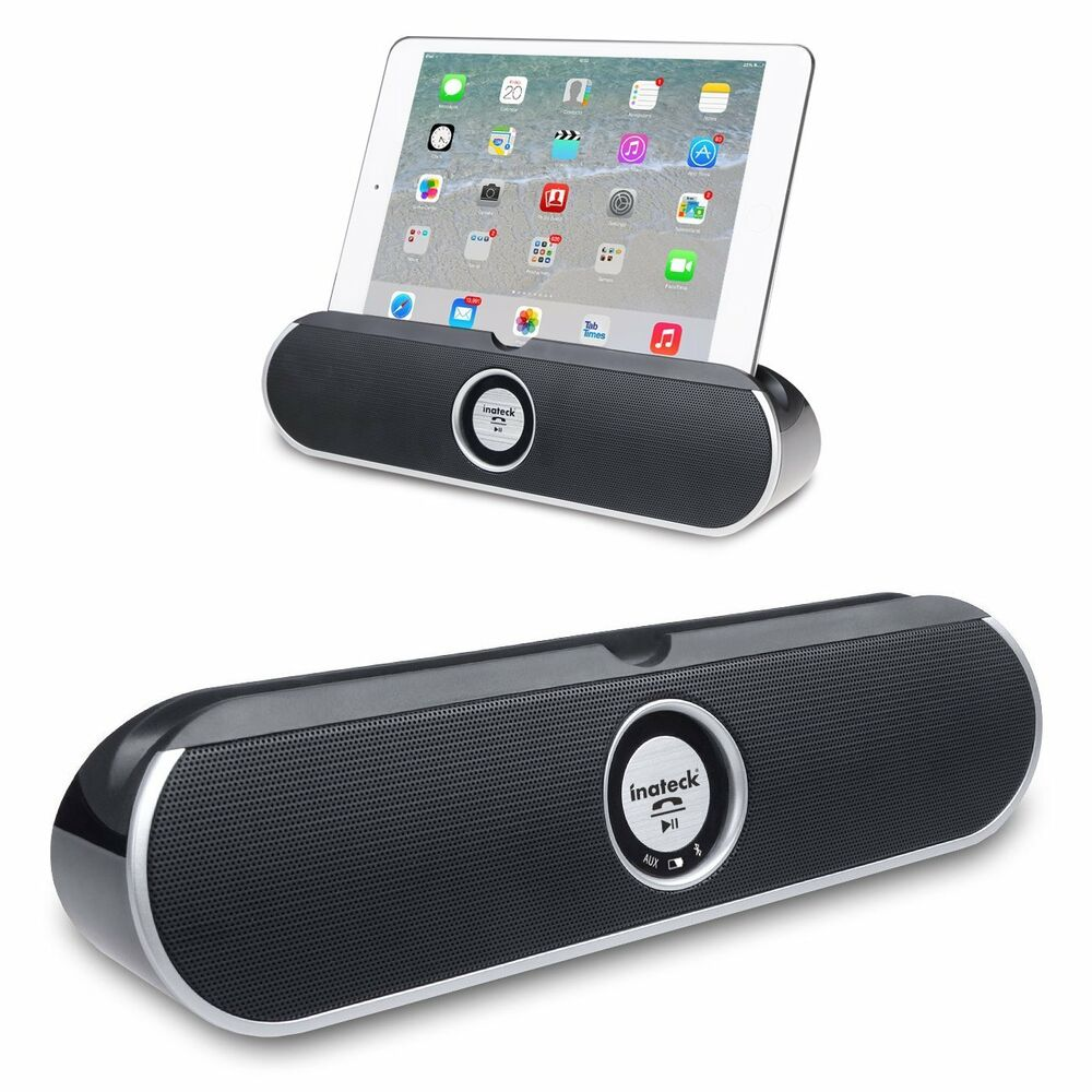 inateck bluetooth portable speaker stand dock for iphone 7plus 6 6s android ipad ebay. Black Bedroom Furniture Sets. Home Design Ideas