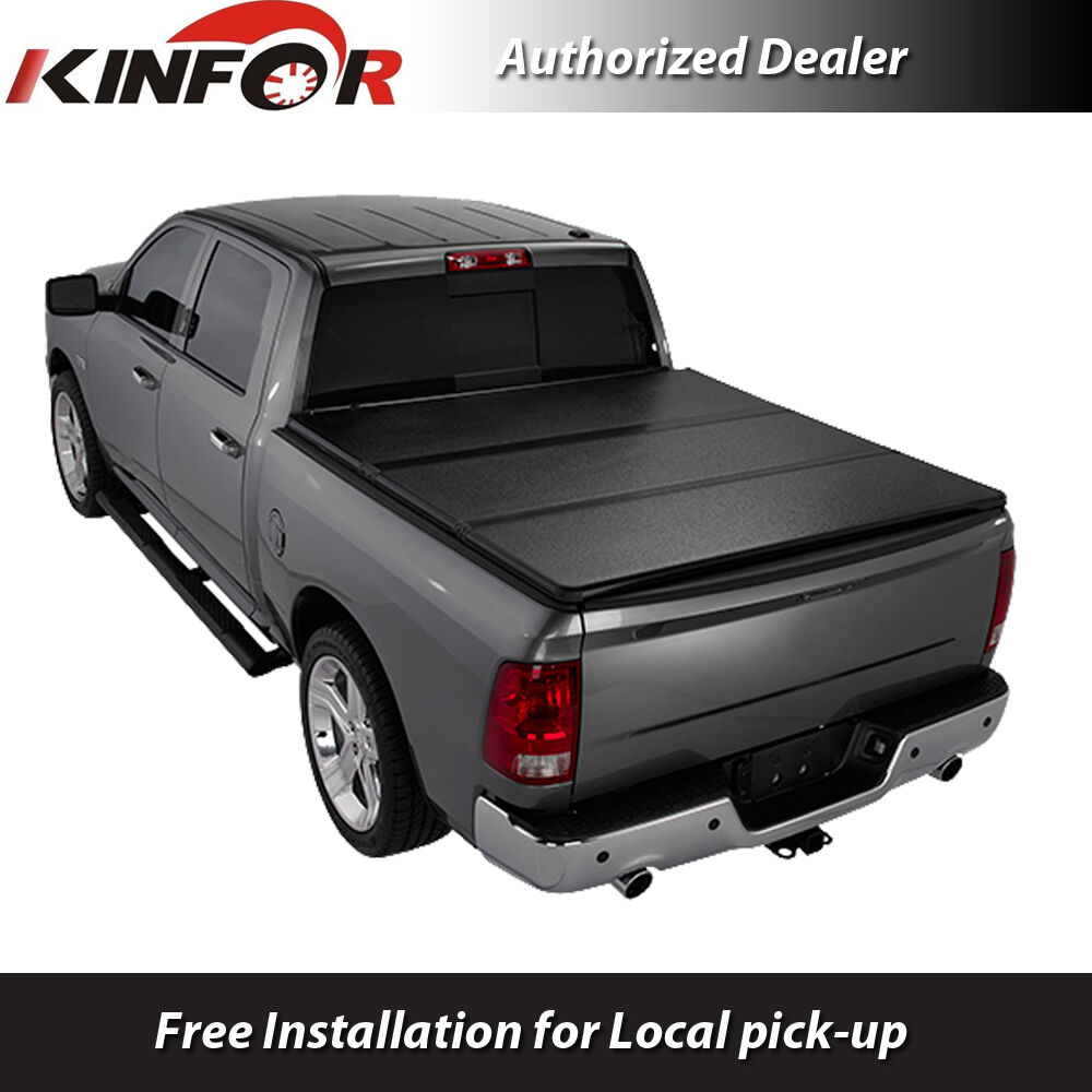 Dodge Bed Covers: Premium Solid Tri-Folding Tonneau Cover For 2014-2018 Ram