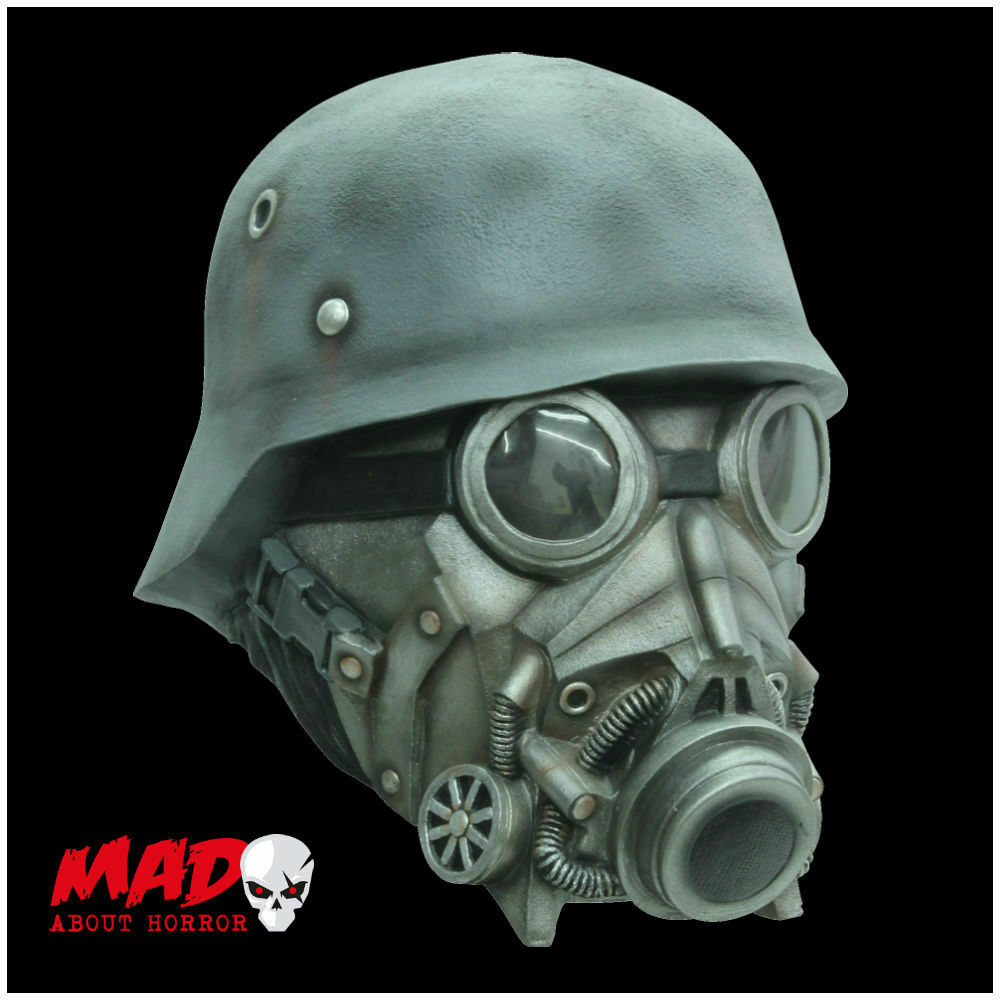 Deluxe Chemical Warfare Latex Mask - Horror Gas Mask Halloween ...
