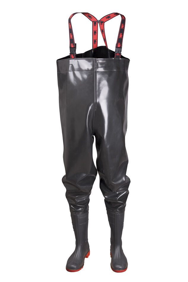 Strong fishing chest waders pvc like latex sizes 7 14 5 for Chest waders for fishing
