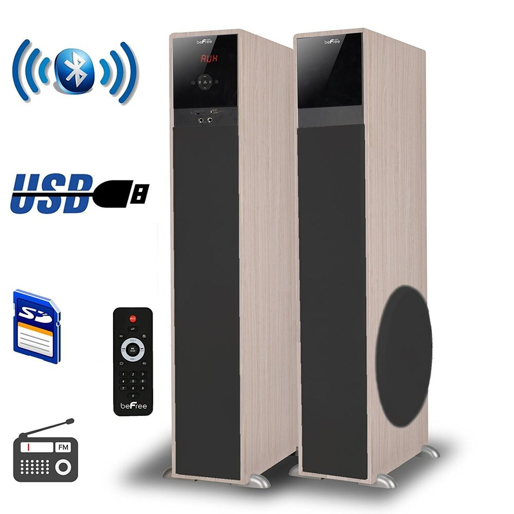 befree sound bluetooth wireless powered tower speakers. Black Bedroom Furniture Sets. Home Design Ideas