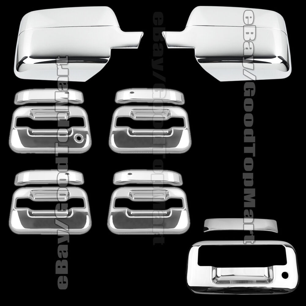 For 2004 2008 Ford F 150 F150 Chrome Covers Set Mirrors 4