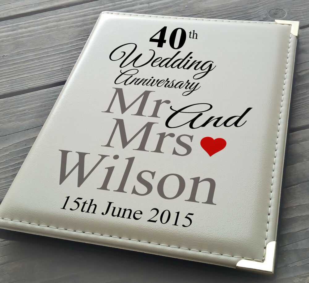 """Details about Personalised 7x5"""" x 36 photo album, memory book, 40th Wedding Anniversary gift"""
