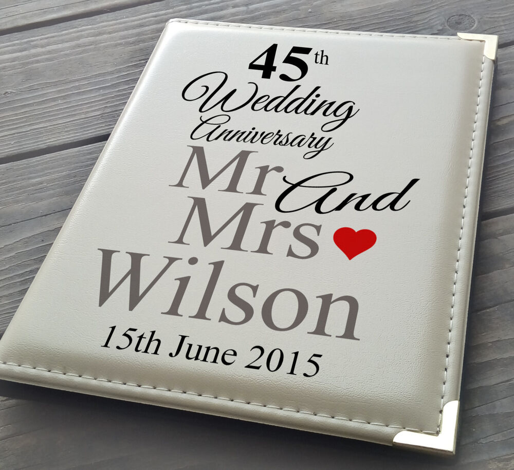 """Details about Personalised 7x5"""" x 36 photo album, memory book, 45th Wedding Anniversary gift"""