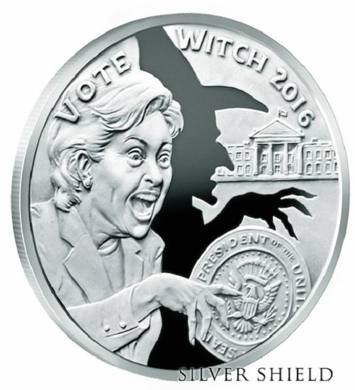 2016 Vote Witch Proof 4 Wizard Of Us Silver Shield In