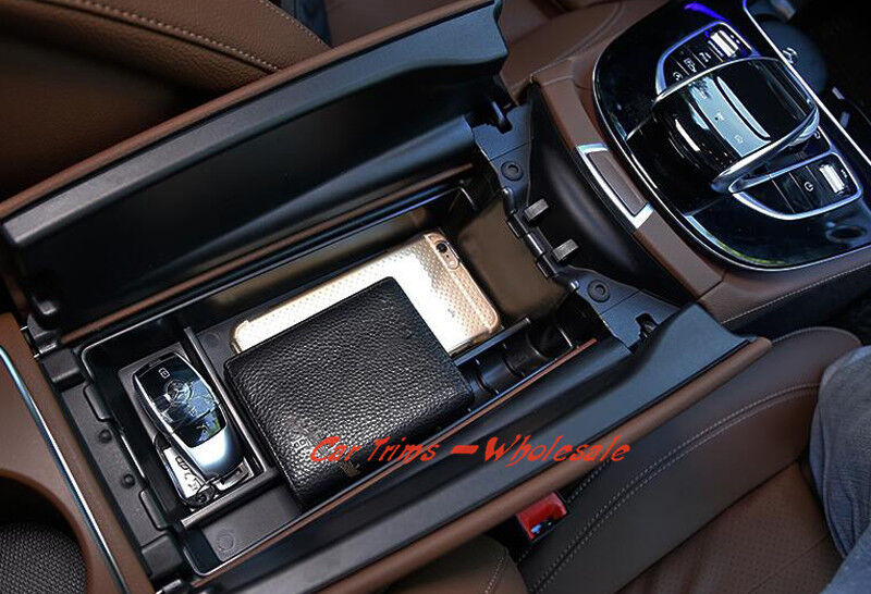1pcs abs interior armrest storage box for mercedes benz e class w212 2009 2015 ebay for Mercedes benz replacement parts for the interior