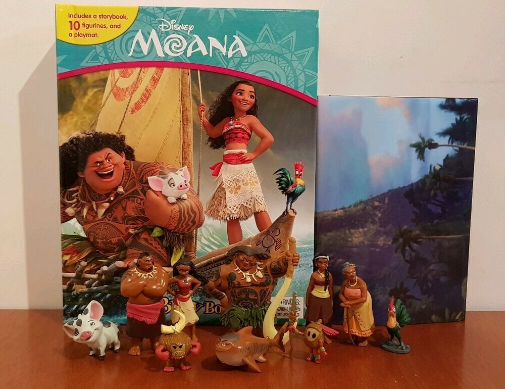 New Disney Moana My Busy Book 12 Character Figurines