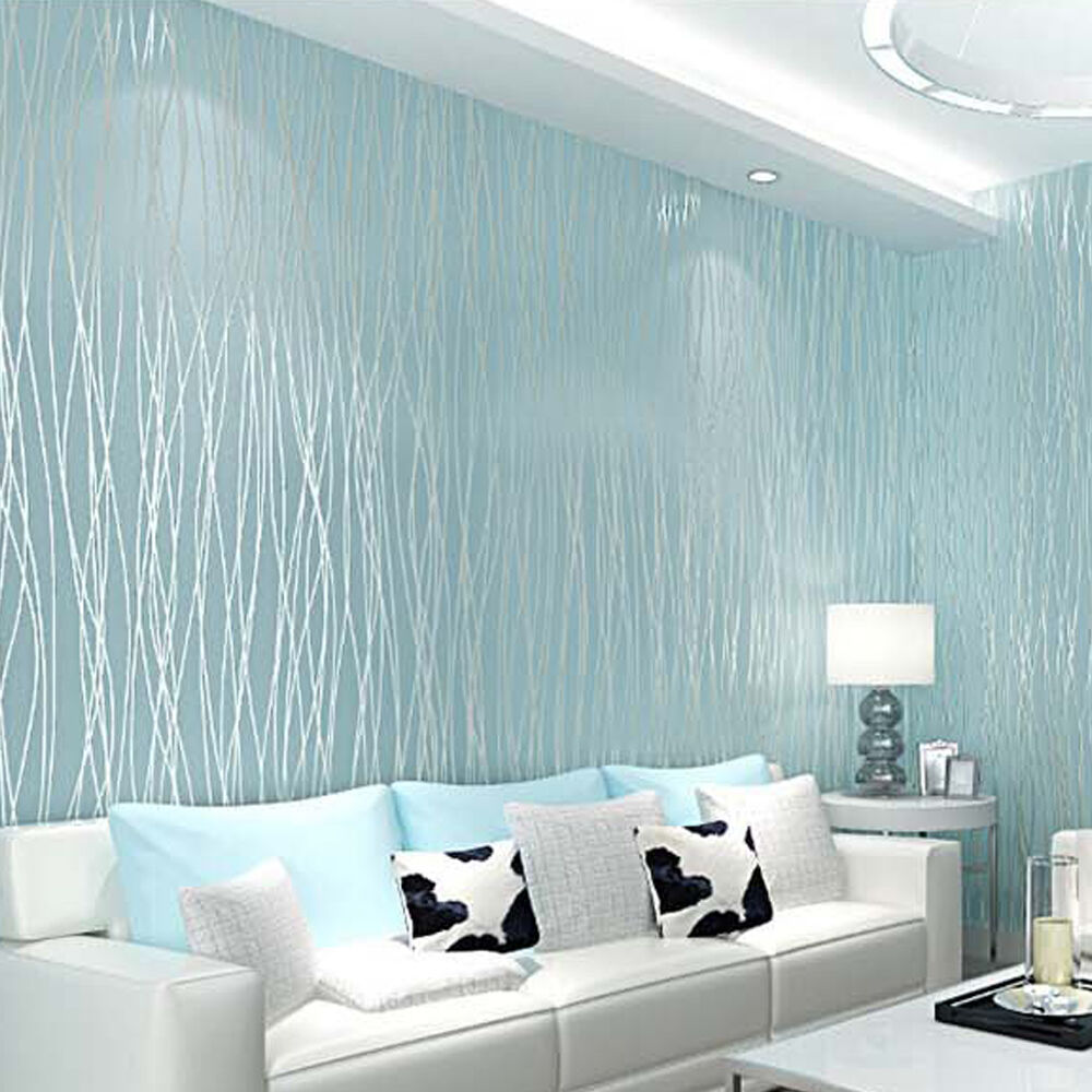 Wallpapers In Home Interiors: 3D 10M Wallpaper Bedroom Living Mural Roll Modern Wall
