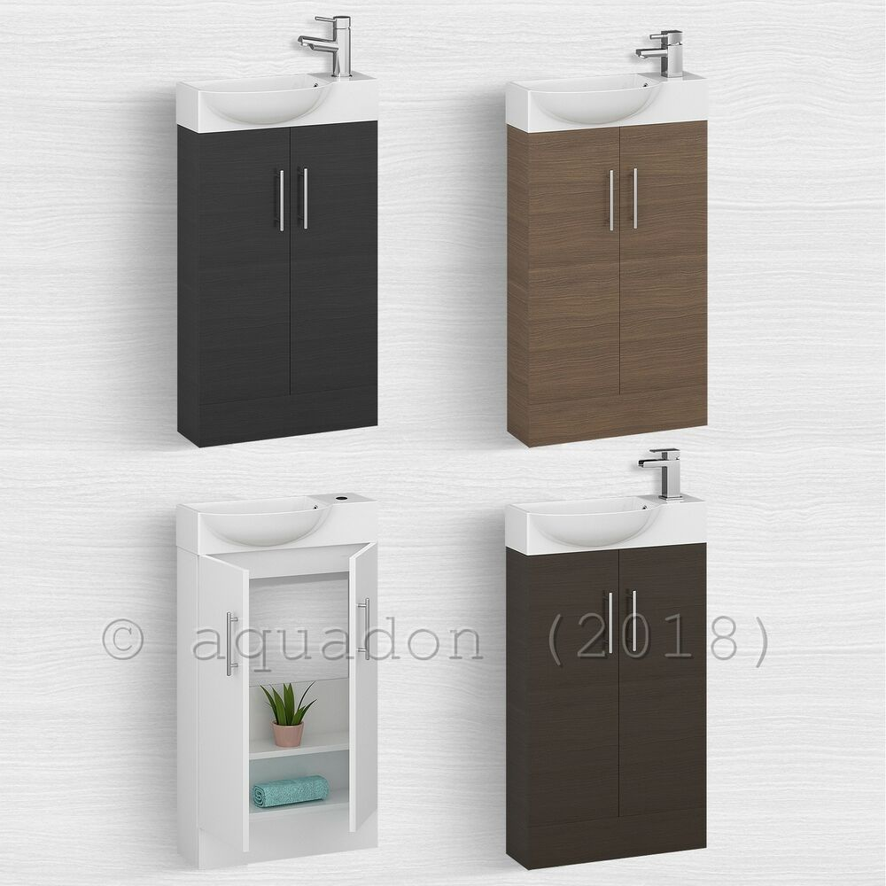 Bathroom Cloakroom 500mm Double Door Compact Storage Vanity Unit Basin Sink Ebay