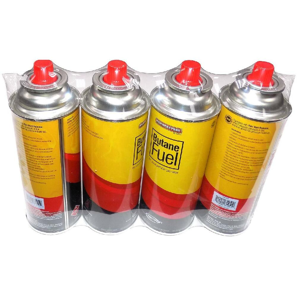 4 24pk Portable Butane Fuel Gas Range Canister Can
