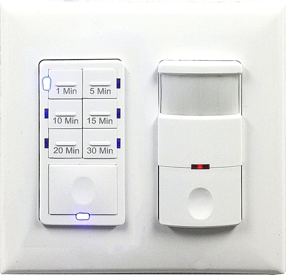 Bathroom Lighting Motion Sensor: 2-Gang 30-Min Fan Timer Bathroom Switch And Motion Sensor