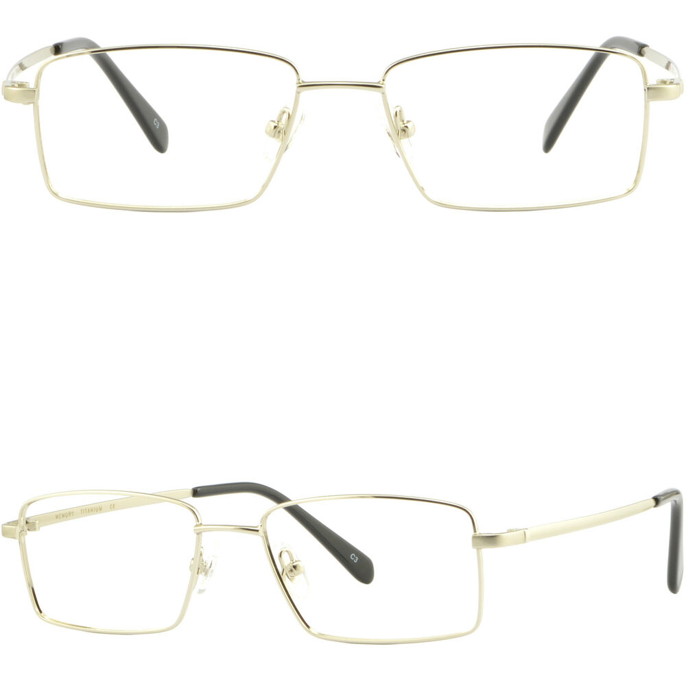 Large Frame Rx Glasses : Large Light Mens Titanium Frame Full Rim Wide RX ...