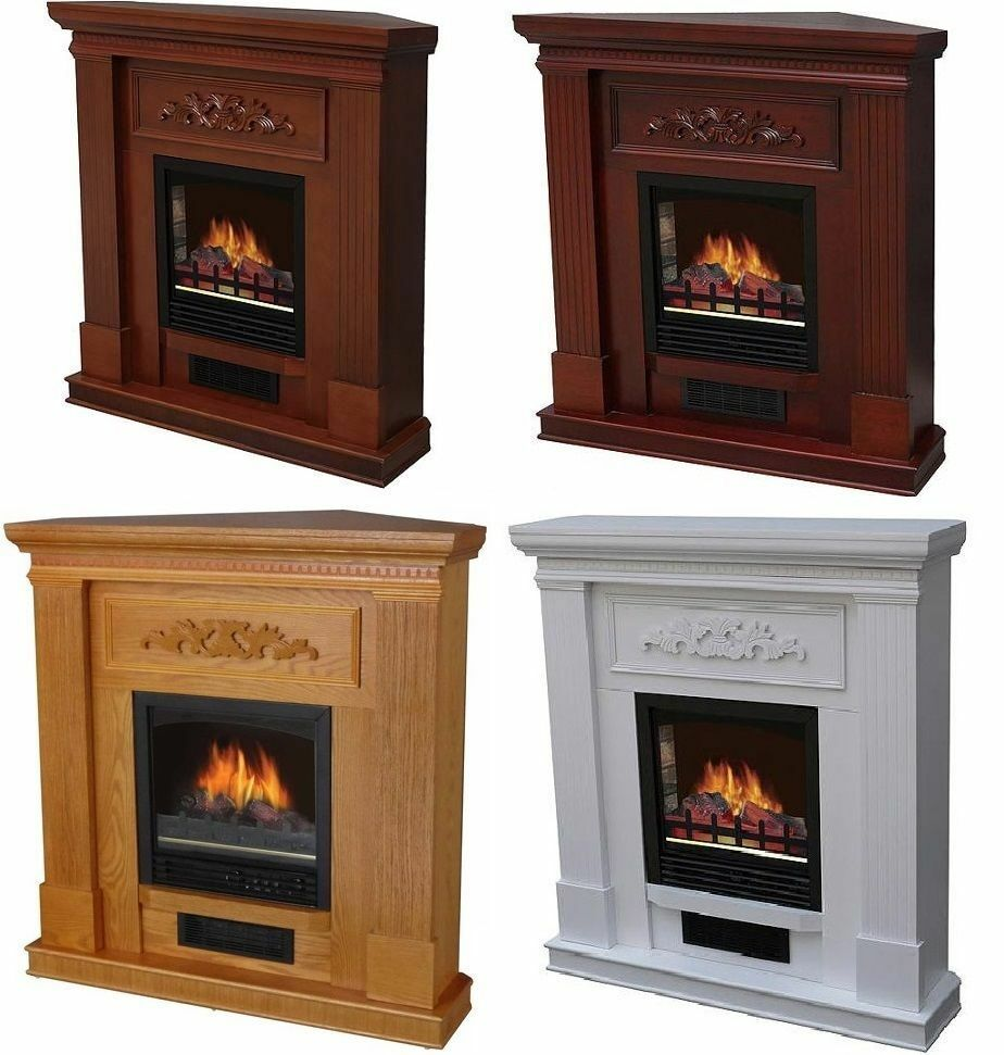 electric fireplace tv stand heater corner or straight 32 38 44 mantle flat new ebay. Black Bedroom Furniture Sets. Home Design Ideas