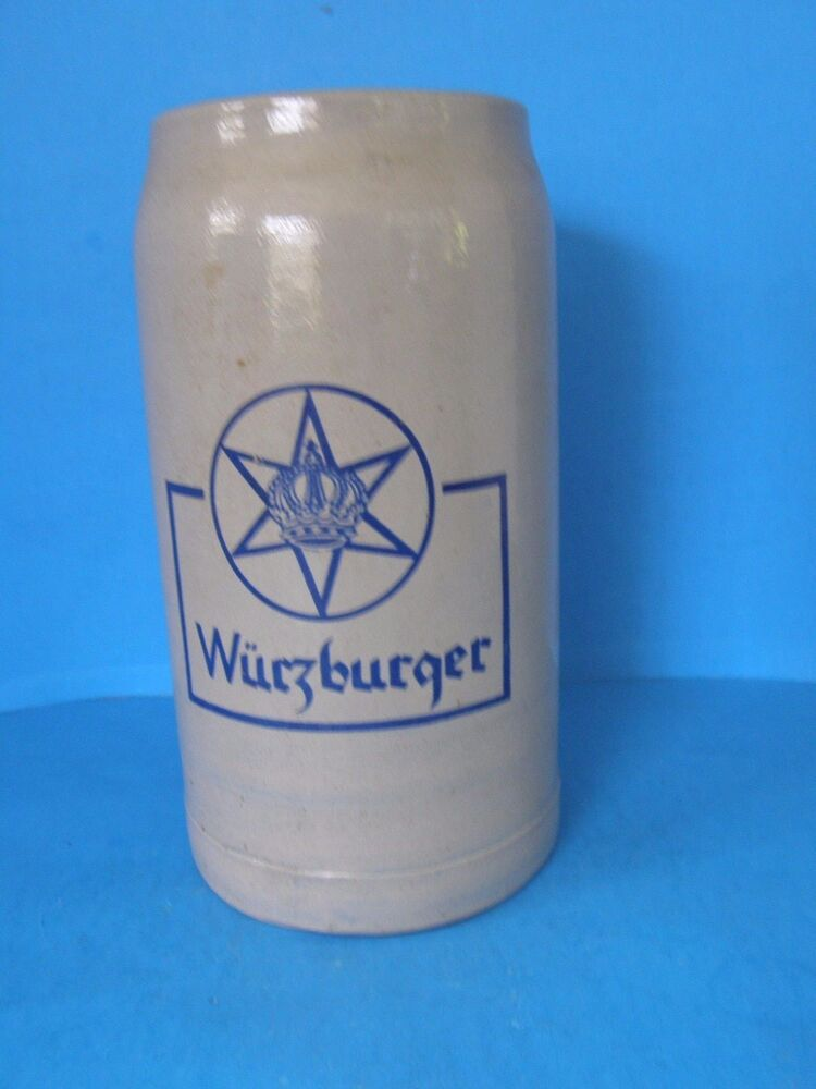 Vintage West German Wurzburger Stoneware Beer Stein Mug 1