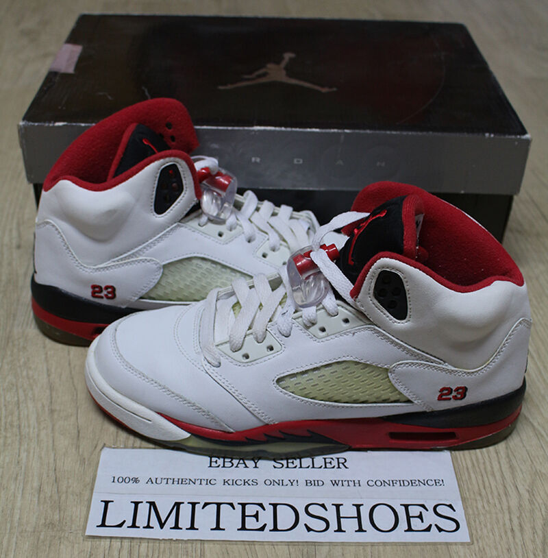 buy popular 7bb39 0a30e Details about NIKE AIR JORDAN 5 V RETRO GS FIRE RED 134092-162 US 6Y oreo  tokyo supreme og iv