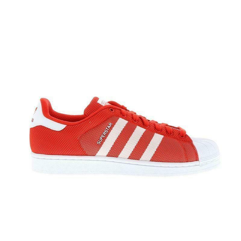 Details about Mens ADIDAS SUPERSTAR Red Textile Trainers BB4976 RRP £74.99 637dcc4f1