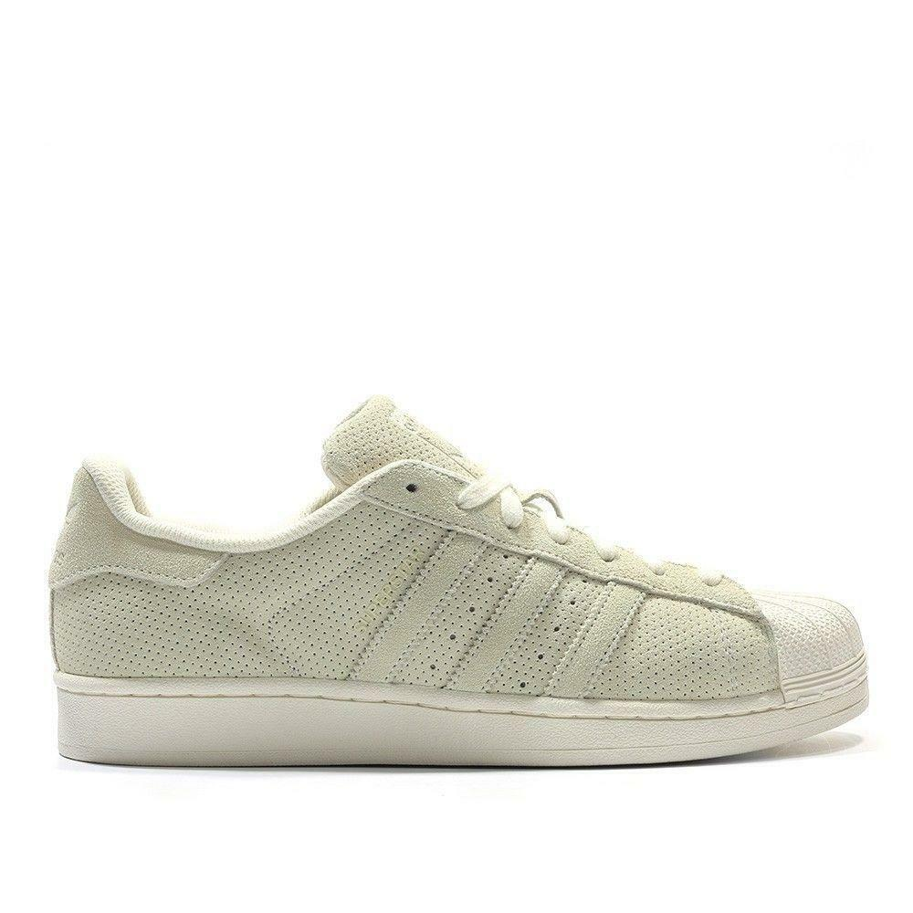 Mens ADIDAS SUPERSTAR RT Ivory Suede Casual Trainers S79477