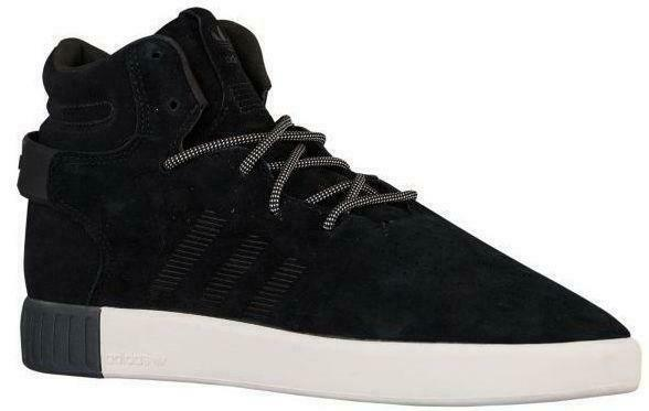 Mens ADIDAS TUBULAR INVADER Black/White Suede Hi Tops Trainers S80243 | eBay