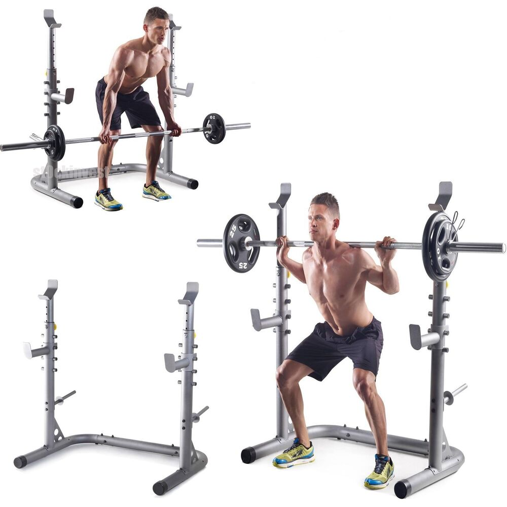 New Sports Exercise Training Fitness Weight Lifting Gym: NEW Golds Gym Workout Squat Rack Bench Power Weight Stand