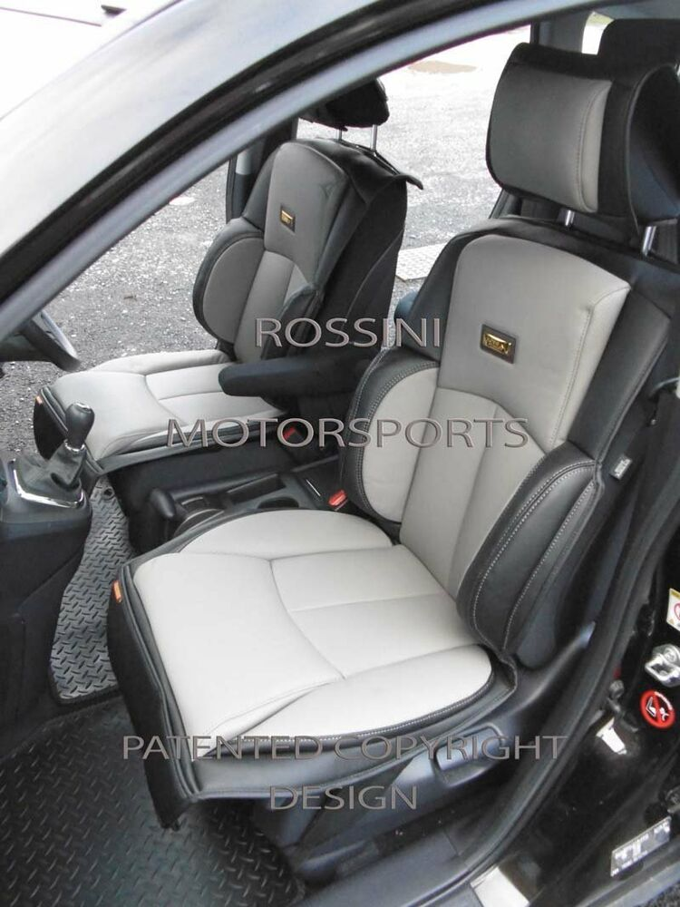 to fit a kia soul car seat covers ys01 recaro sports grey black ebay. Black Bedroom Furniture Sets. Home Design Ideas