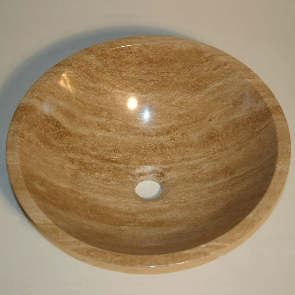 16 5 Quot Modern Travertine Stone Vessel Sink Bowl Lavatory