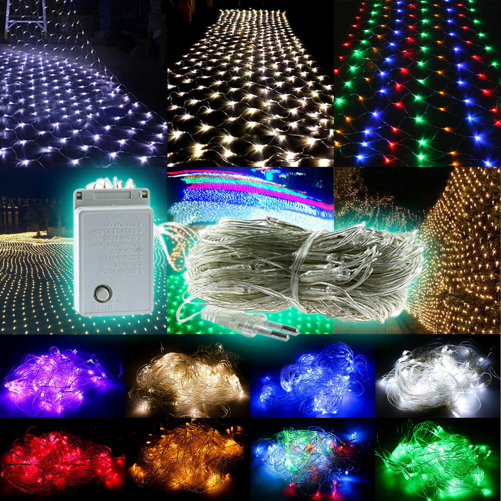 Led Outdoor Party String Lights: 96/200/880 LED Net Mesh Fairy String Lights Christmas Xmas