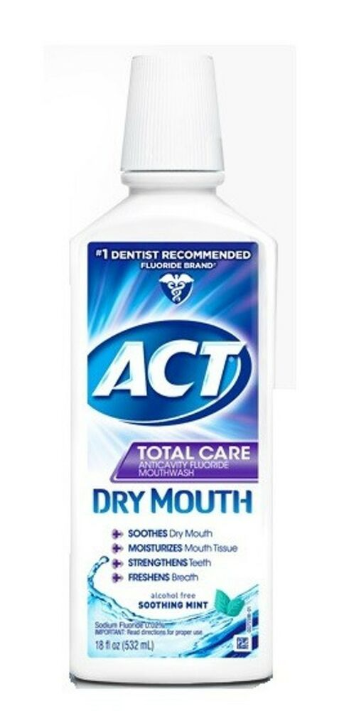 Act Mouthwash Dry Mouth >> ACT Total Care Anti-Cavity Flouride Rinse - Dry Mouth - Mint - 18 oz. | eBay